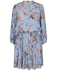 Mos Mosh Theresa Thistle Dress Bel Air - Blue