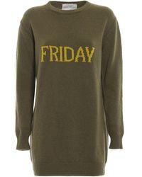 Alberta Ferretti Friday Long Crewneck Sweater - Green