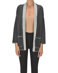 Purotatto Silk And Wool Cardigan - Grey