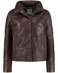 Goosecraft Telescopic Leather Puffer - Brown