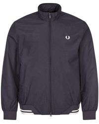 Fred Perry Brentham Jacket - Navy - Blue