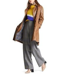 Marc Cain Leather Trench Coat - Multicolour