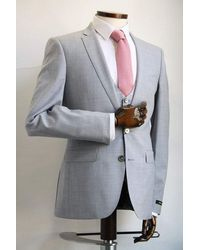 Remus Uomo Lazio Sky Blue Marl Jacket