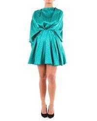 The Attico Short Peacock Green Dress