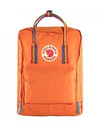 Fjallraven Fjallraven Kanken Rainbow Backpack - Burnt Orange/rainbow