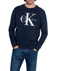 Calvin Klein - Men's J30j314692c2o Blue Cotton Sweatshirt - Lyst