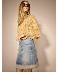 Mos Mosh Everly Denim Skirt - Brown