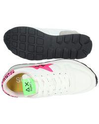 Sun68 Sneakers Basse Donna Bianco/fuxia - Multicolour