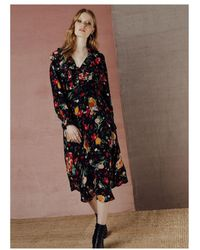 Lily and Lionel Floral 70's Dress - Multicolor
