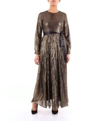 Jucca Dress Long Women Gold - Metallic