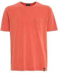 Drumohr Tshirt Pocket - Orange