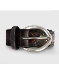 Orciani Cintura In Tessuto E Pelle Velvet Majolic - Black