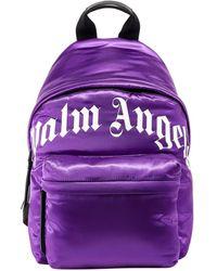 Palm Angels Satin Nylon Backpack - Black