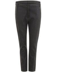 COSTER COPENHAGEN Jacquard Trouser - Black