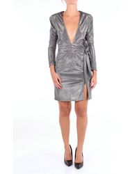 ACTUALEE Dress Short Women Silver - Metallic