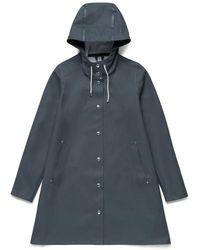 Stutterheim Stockholm Charcoal Raincoat By - Grey