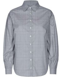 Mos Mosh Lanza Check Shirt - Gray