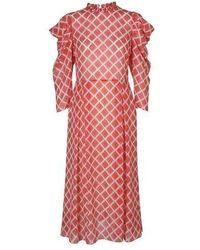 Hofmann Copenhagen Carla Dress In Fiery Red Print