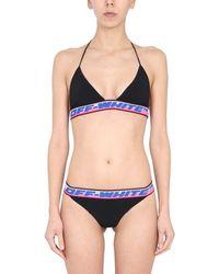 Off-White c/o Virgil Abloh Bikini With Logo Tape - Black