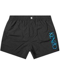 KENZO Side Logo Swimshorts - Black
