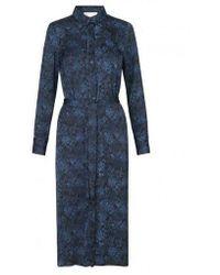 Rosemunde Floral Shirt Dress - Blue