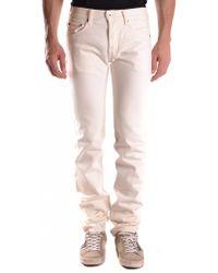 Evisu - Men's Mcbi338009o White Cotton Jeans - Lyst