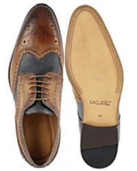 Lacuzzo Brown And Navy Brogue