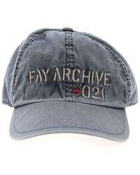 Fay Logo Embroidery Cap - Blue