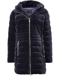 Geox Felyxa Long Quilted Jacket Colour: Blue