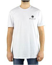 Philipp Plein - Ss Iconic Plein White Logo T-shirt - Lyst