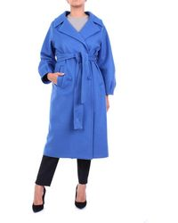 ACTUALEE Outerwear Long Tte - Blue