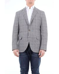 Brunello Cucinelli Single-breasted Prince Of Galle Jacket - White