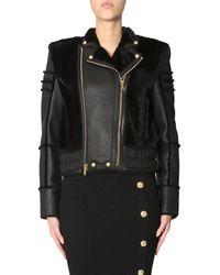 Balmain Women's 147899l012c0100 Black Leather Jacket