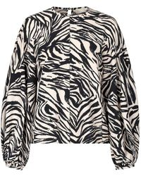 Stine Goya Dianne Zebra Blouse - Black