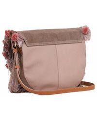 Patrizia Pepe - Clutch Bag In Beige - Lyst