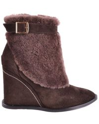 Paloma Barceló Suede Ankle Boots - Brown