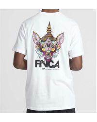 RVCA Screaming Bat Tee Shirt White