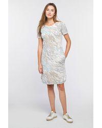 Kinross Cashmere Surf Camo Dress - Gray