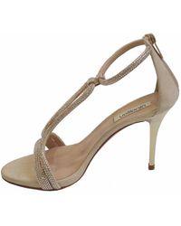 Nina Lilou Ninalilou Women's 803 25105 Strappy Crystal Gold Heels - Metallic