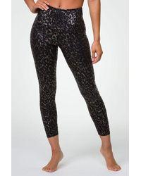 Onzie Foil Midi legging - Regal Animal - Black