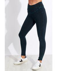Free People High-rise Ankle Length Hybrid legging - Black Wash