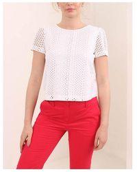 Emporio Armani Broderie Top Colour: White