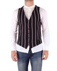 Fradi Men's 181fly181cn6549 Blue Wool Vest