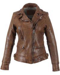 Oakwood Video Tan Leather Jacket - Brown