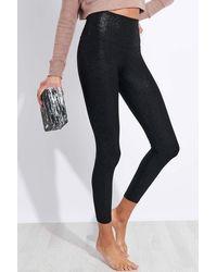 Beyond Yoga Twinkle High Waisted Midi legging - Black/silver Twinkle