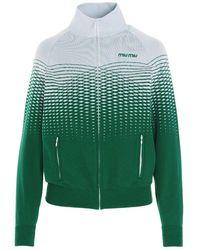 Miu Miu Polyamide Sweatshirt - Green