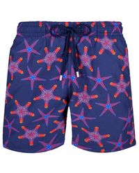 Vilebrequin Moorea Swim Short Starfish Dance - Blue