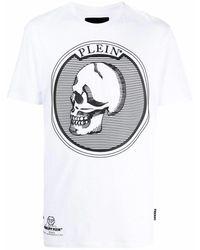 Philipp Plein Men's Paacmtk5080pjy002n01 White Cotton T-shirt