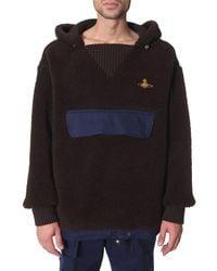 Vivienne Westwood Shearling Hooded Jacket - Brown