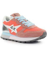 Sun68 Ally Star Basic Coral Silver Sneaker - Orange